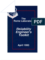 Rome Laboratory Reliability Engineers Toolkit
