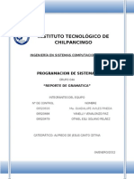 REPORTE DE GRAMATICA