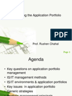 Managing the Application Portfolio