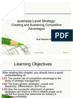 Business-Level Strategy - Creating and Sustaining Competitive Advantages