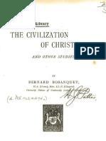 Bernard Bosanquet THE CIVILIZATION OF CHRISTENDOM London 1893