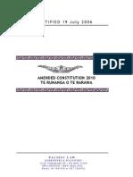 Te Runanga o Te Rarawa 2006 Constitution, Amended 2010
