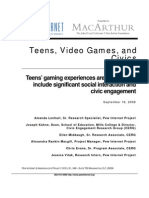 PIP Teens Games and Civics Report FINAL