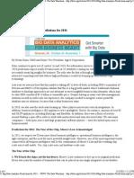 11 Big-Data Analytics Predictions for 2011 -The Data Warehousing Institute