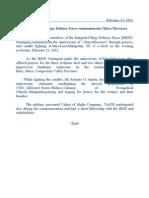 Integrated Barangay Defense Force commemorates Maco Massacre