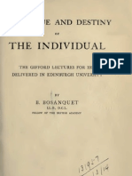 Bernard Bosanquet THE VALUE AND DESTINY OF THE INDIVIDUAL London 1913