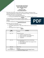 Agenda Feb 15th School Loop