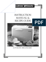 Breadman Ultimate TR4000 Bread Maker Manual