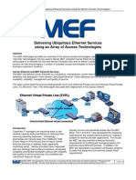 MEF WP Ethernet Svcs and Access Tech