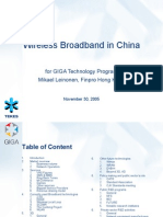 Giga Background Study Mobile Broadband in China3533