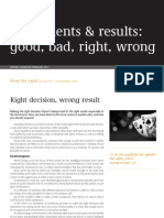 Special Report Judgements and Results