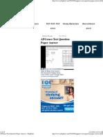 APGenco Test Question Paper Answer « JbigDeaL