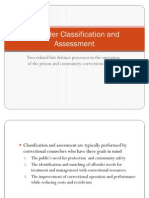 CJ320 Offender Classification and Assessment