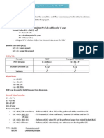 Important Formulas for the PMP® exam