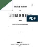 Ordenanzas Municipales de La Habana, 1862