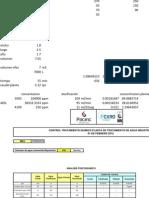 Formato de Control de Para Metros Planta de Tratamiento de Agua Industrial FEBRERo