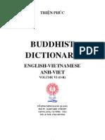 Buddhist Dictionary Anh-Viet