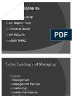 Managing & Leading