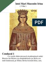 Acatistul Sfintei Mari Mucenite Irina