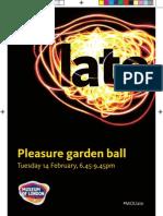 Pleasure Garden Ball Programme
