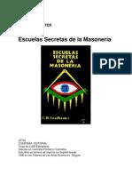 Lead Beater. Escuelas Secretas de La Masonería