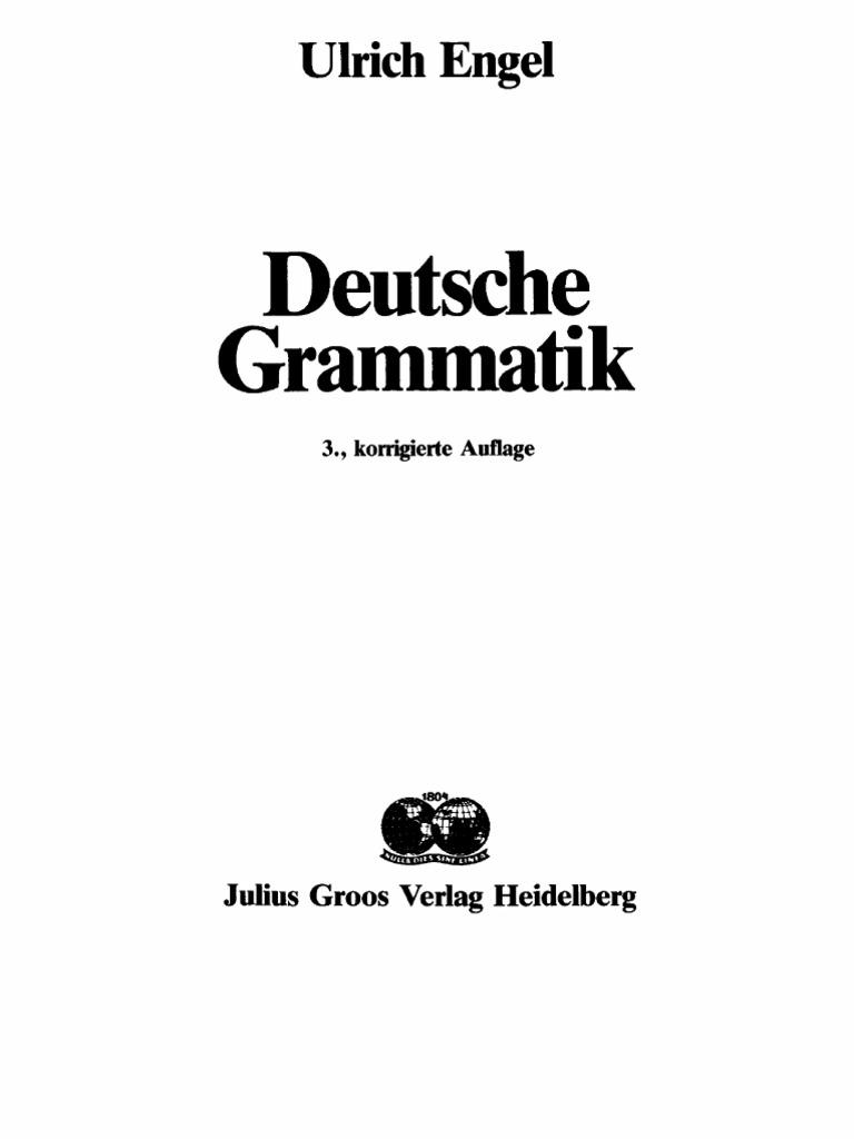 Engel-Deutsche-Grammatik