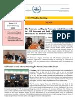 OTP Weekly Briefing 1-9 February 2012 # 111
