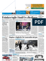 Il Mattino 14.02.2012 - Il sindaco toglie i fondi Ue a Realfonzo