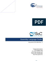 PSoC Assembly Language User Guide