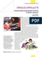 Developmentally Appropriate Practice in Early Literacy