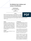 Exploring the Method, Goal, Audience and Context of Gamification