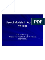 Use of Modals in Academic Writing