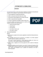 IEM Professional Interview Guidelines - New revision starting 1 Sep 2012