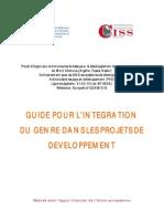 Guide pour l'integration du genre dans les projets de développement