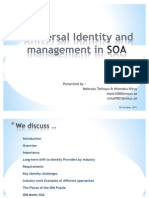 Universal Identity and Management in SOA