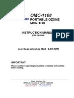 OMC 1108 Manual