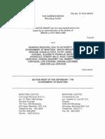 Grant v. WRHA Et Al - Province Brief 1
