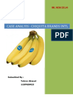 Chiquita Case Analyis