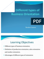 Different Types of Business Orientation