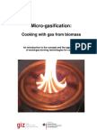 Micro-Gasification Cooking With Gas From Biomass