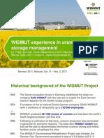 Опыт переработки урановых хвостохранилищ на предприятиях WISMUT