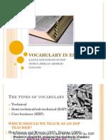 Vocabulary in Esp