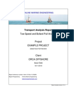 Tow Speed and Bollard Pull Analysis 2010