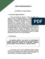 Unidade V de ADM I - Agentes Públicos e cargos públicos