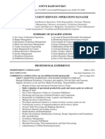 Client Services Operations Manager in Orange County CA Resume Steve Radusovsky