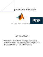 Solving a System in Matlab