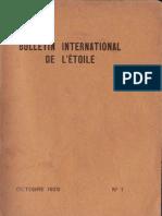 Bulletin International de L'Étoile N°1 Octobre 1929 par J. Krishnamurti