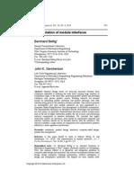 Bettig & Gershenson (2010)--The Representation of Module Interfaces