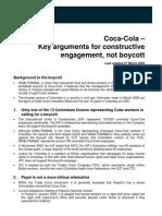 Coke Key Arguments