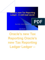 Oracle EBtax - Tax Reporting Ledger
